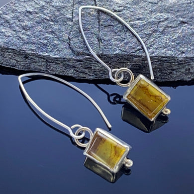 Rectangular Amber Earrings