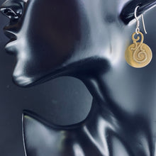 Load image into Gallery viewer, Brass and Sterling Disc Earrings