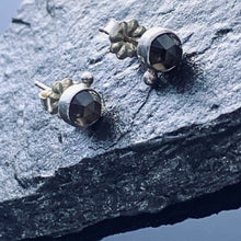 Load image into Gallery viewer, Smokey Quartz Sterling Post Earrings
