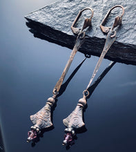Load image into Gallery viewer, Copper Swarovski Crystal Earrings