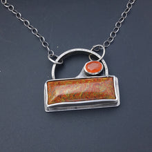 Load image into Gallery viewer, Dino Bone and Carnelian Pendant