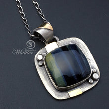 Load image into Gallery viewer, Blue tigers eye pendant
