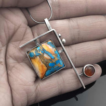 Load image into Gallery viewer, Kingman Turquoise, Spiny Oyster Pendant