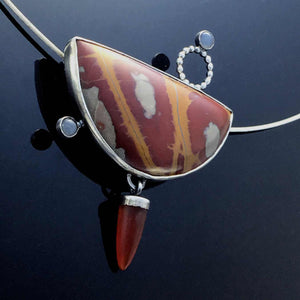 Noreena Jasper and moonstone Pendant