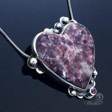 Load image into Gallery viewer, Lepidolite Heart Pendant