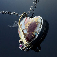 Load image into Gallery viewer, Turquoise, Spiny Oyster Heart Pendant