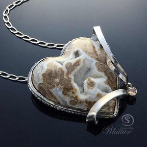 Wyoming Blizzard Heart Pendant