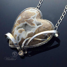 Load image into Gallery viewer, Wyoming Blizzard Heart Pendant