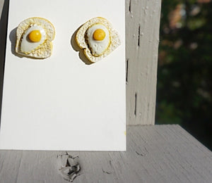 Egg Toast Earrings