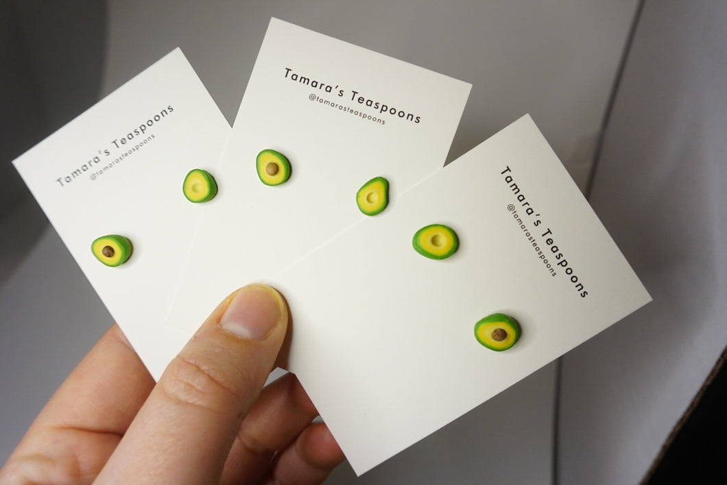 Avocado Earring Studs - Small