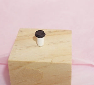 Mini coffee cup with lid