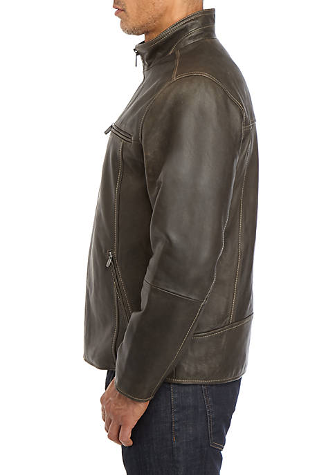 Tommy Bahama - Rocker Highway Leather Jacket