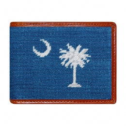 Smathers & Branson - South Carolina Flag Needlepoint Bi-Fold Wallet
