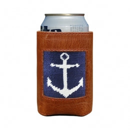 Smathers & Branson - Anchor Needlepoint Can Cooler
