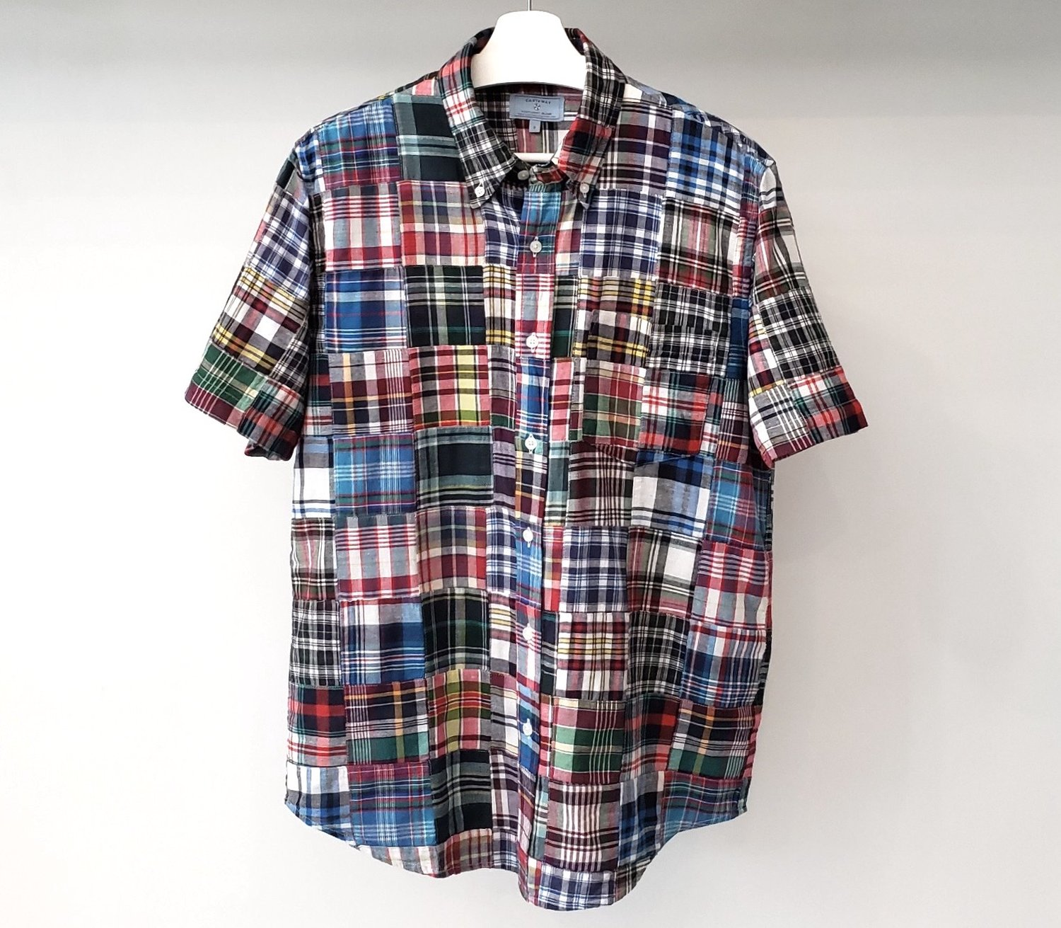 Castaway - Chase Short Sleeve Shirt Lincoln Patch Madras