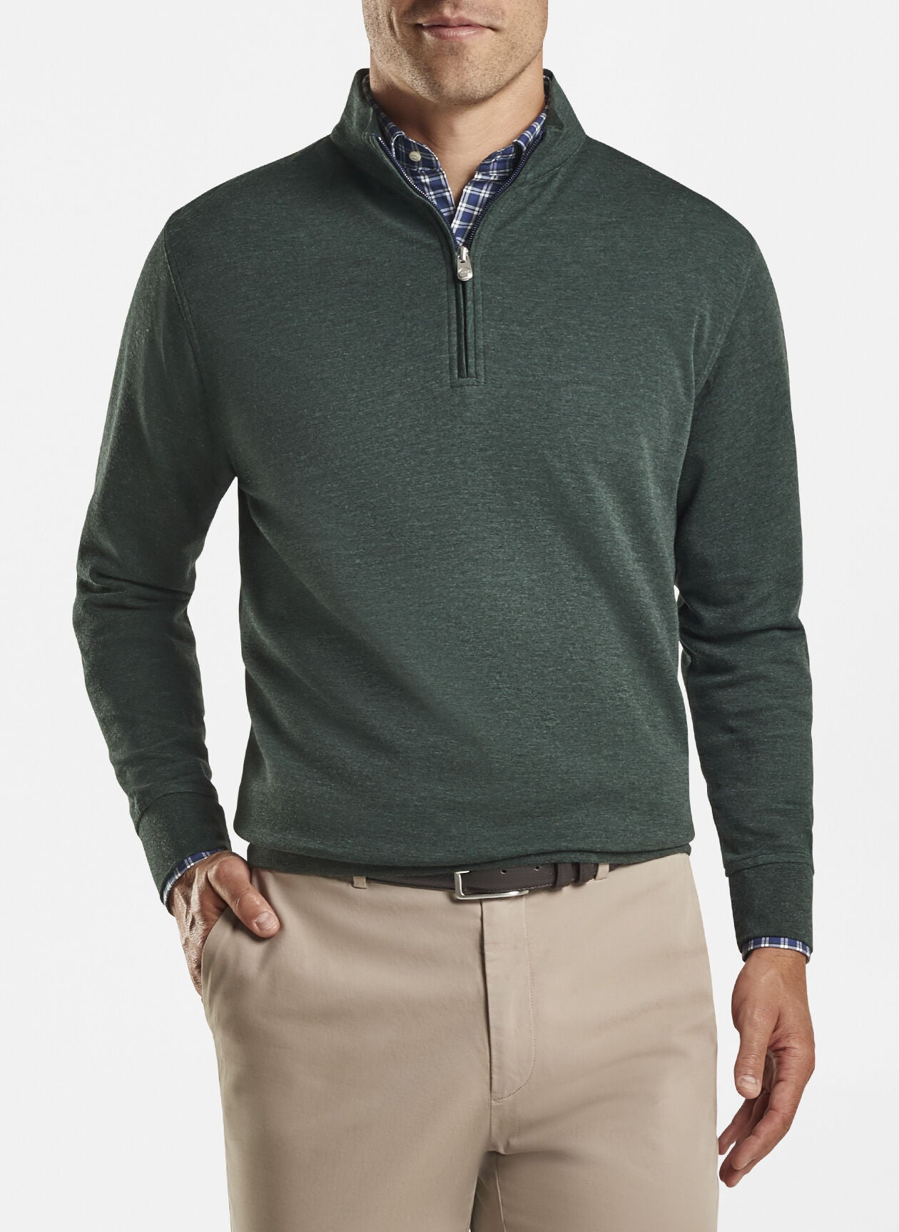 Peter Millar - Crown Comfort Interlock 1/4 Zip Sweater