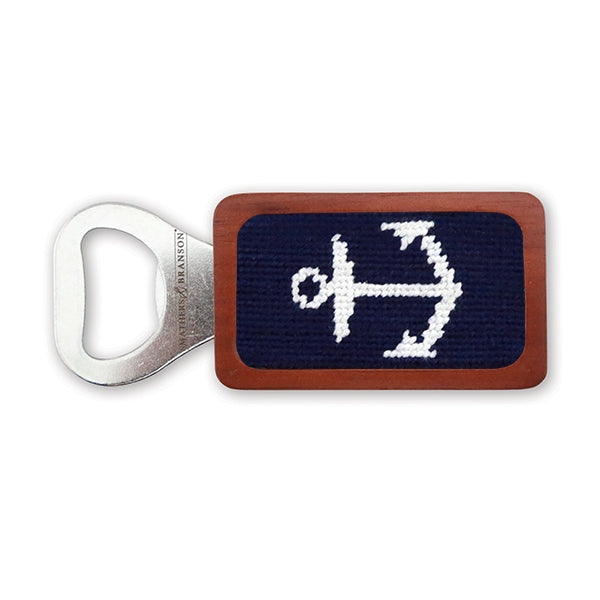 Smathers & Branson - Anchor Needlepoint Bottle Opener
