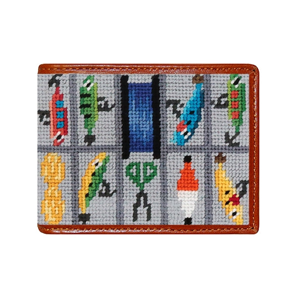 Smathers & Branson - Tackle Box Needlepoint Bi-Fold Wallet