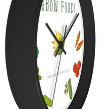 Load image into Gallery viewer, Time To Grow Food - Wall clock