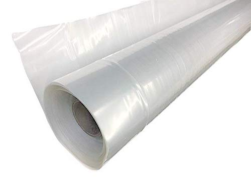 Greenhouse Plastic Film Clear Polyethylene Cover UV Resistant, 16 ft Wide x 25 ft Long