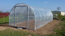 Load image into Gallery viewer, Greenhouse Plastic Film Clear Polyethylene Cover UV Resistant, 16 ft Wide x 25 ft Long