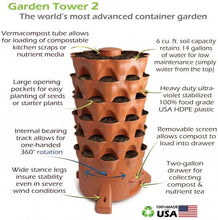 Load image into Gallery viewer, Garden Grow Tower 2 And Caster Wheel Kit Combo - The Greatest Organic Grow Tower On The Planet!
