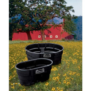 Rubbermaid Commercial Structural Foam Stock Tank, 50 Gallon Capacity, Black (Fg424300Bla)