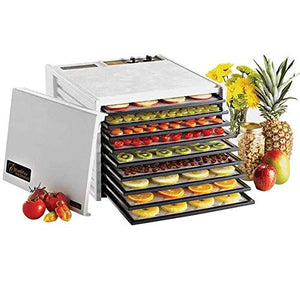 Excalibur 3926TW 9-Tray Electric Food Dehydrator with Temperature Settings and 26-hour Timer Automatic Shut Off for Faster and Efficient Drying Includes Guide to Dehydration Made in USA, 9-Tray,White