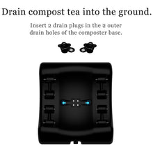 Load image into Gallery viewer, Envirocycle The Most Beautiful Composter in The World, Made in The USA, Food Safe, BPA and Rust Free, No Assembly Required, Composting Tumbler Bin and Compost Tea Maker
