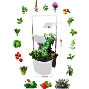 Indoor Gardening Kit,Grand 5 in 1 Planting Ecosystem w/300 LED Plant Grow Light, Hydroponics Indoor Home Gardening Kit Herb Seed Pod Kit w/Self-Watering