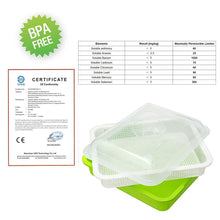 Load image into Gallery viewer, Seed Sprouter Tray with Lid BPA Free Bean Sprout Grower Germination Kit Extra Small Hole