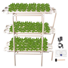 Load image into Gallery viewer, Giraffe-X Hydroponic Grow Kit 108 Sites 12 Pipes 3 Layers Hydroponic Planting Equipment Ebb and Flow Deep Water Culture Balcony Garden System Vegetable Tool Grow Kit