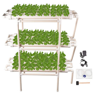 Giraffe-X Hydroponic Grow Kit 108 Sites 12 Pipes 3 Layers Hydroponic Planting Equipment Ebb and Flow Deep Water Culture Balcony Garden System Vegetable Tool Grow Kit