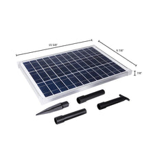 Load image into Gallery viewer, Solar Water Pump Kit - 160+GPH - Submersible Water Pump and 10 Watt Solar Panel for Sun Powered Fountain, Waterfall, Pond Aeration, Aquarium, Aquaculture (NO Battery Backup)