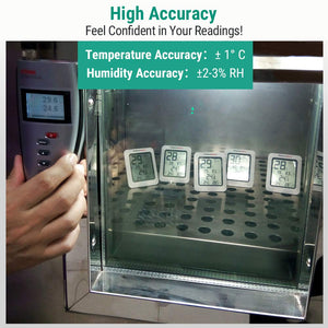 Digital Hygrometer Indoor Thermometer Room Thermometer and Humidity Gauge with Temperature Humidity Monitor
