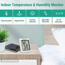 Load image into Gallery viewer, Digital Hygrometer Indoor Thermometer Room Thermometer and Humidity Gauge with Temperature Humidity Monitor