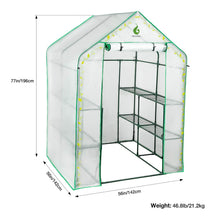 Load image into Gallery viewer, Greenhouse with PVC Cover and 8 Sturdy Shelves,Thicken Tube,Stable Walk-in Green House for Gardening Flowerpot Indoor Outdoor Use ( 77x56x56 inch)