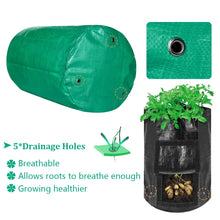Load image into Gallery viewer, Garden Potato Grow Bag, 4Pack10Gallon Grow Bags with Access Flap and Handles for Harvesting Potato, Carrot, Onion, tomata,Vegetable and Flower.