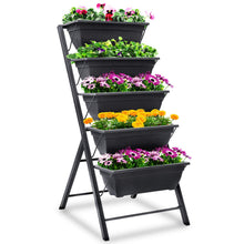Load image into Gallery viewer, FOYUEE Vertical Herb Garden Planter Box Outdoor Elevated Raised Bed for Vegetables Flower Indoor with Drainage 5 Container