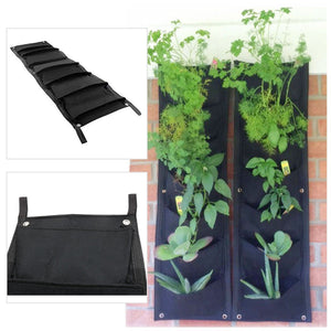 Vertical Garden Hanging Planter, 7 Pockets, Wall Hanging Mount Planter Plant Grow Bag for Flower Vegetable - Indoor/Outdoor