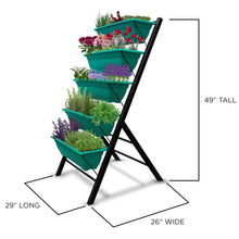 Load image into Gallery viewer, 4-Ft Raised Garden Bed - Vertical Garden Freestanding Elevated Planters 5 Container Boxes - Good for Patio Balcony Indoor Outdoor - Cascading Water Drainage to Grow Vegetables Herbs Flowers (1-Pack)