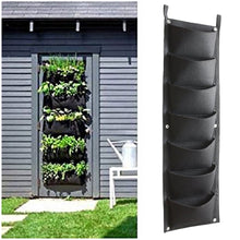 Load image into Gallery viewer, Vertical Garden Hanging Planter, 7 Pockets, Wall Hanging Mount Planter Plant Grow Bag for Flower Vegetable - Indoor/Outdoor