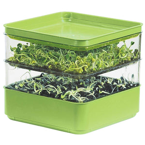 Gardens Alive! Two-Tiered Seed Sprouter - Ideal for indoor sprout growing for a healthy snack or addition to any meal!