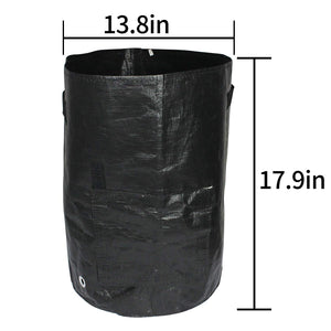 2-Pack Black 10 Gallon Garden Grow Bags Durable Plant Growing Bags Outdoor/Indoor Vegetables Bags with Handle Access Flap Waterproof Container Bags (2-Pack/Black)