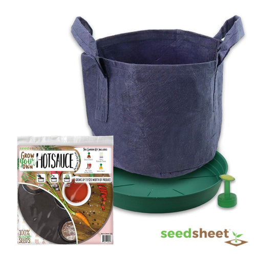 Grow Your Own Hot Sauce Container Garden, Organic Seed Pods, 1.35 Pound
