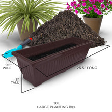 Load image into Gallery viewer, 6-Ft Raised Garden Bed - Vertical Garden Freestanding Elevated Planter with 4 Container Boxes - Good for Patio or Balcony Indoor and Outdoor - Cascading Water Drainage (1-Pack/Espresso Brown)