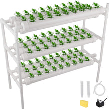 Load image into Gallery viewer, DreamJoy Hydroponic Grow Kit 90 Sites 10 Pipe NFT PVC Hydroponic Pipe Home Balcony Garden Grow Kit Hydroponic Soilless Plant Growing Systems Vegetable Planting Grow Kit (90Site 10Pipe)