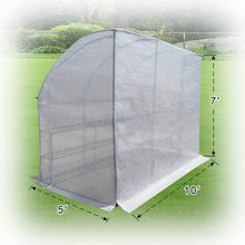 Load image into Gallery viewer, Strong Camel Walk-in Greenhouse Large Outdoor Portable Green House 3 Tiers 6 Shelves Gardening, 10x5x7'H (White)