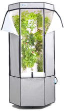 Load image into Gallery viewer, Vertical Hydroponic Grow Kit: Tower, Tent, LEDs, and Fan - Aerospring Indoor Herb & Vegetable Garden - 27 Plant Grow System - Grey