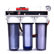 Load image into Gallery viewer, 4 Stage - Hydroponics Reverse Osmosis Water Filter System, 150 GPD + Glycerin Filled Pressure Gauge
